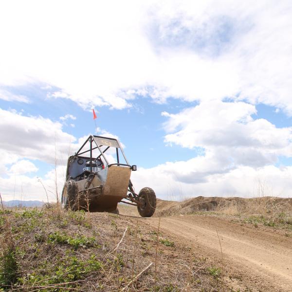 Car practicing hill climbs