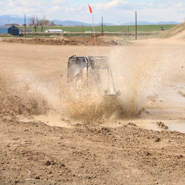 Jack testing the car in a puddle continued