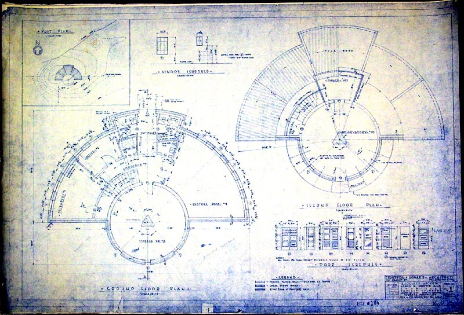 Photo gallery sommers bausch observatory university of plan view blueprint of new observatory 1949 photo credit keith gleason sommers construction malvernweather Images