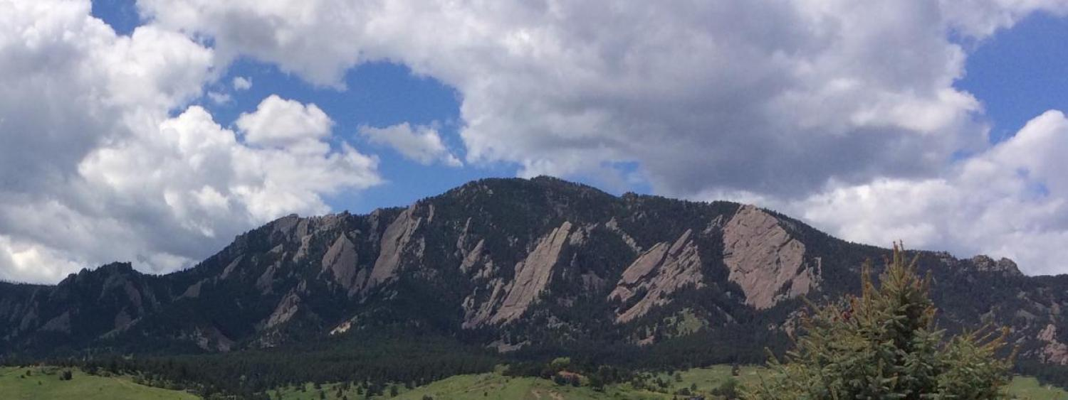View of Flatirons from SBO