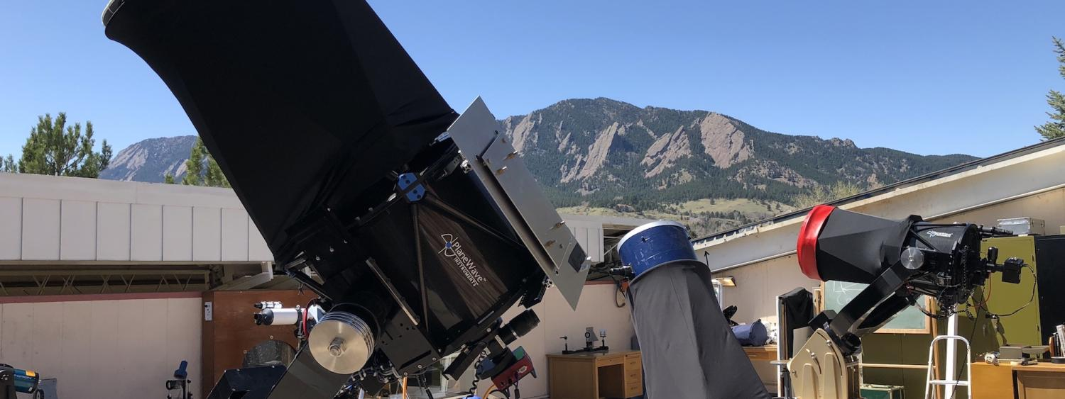 SBO Telescopes with view of Flatirons