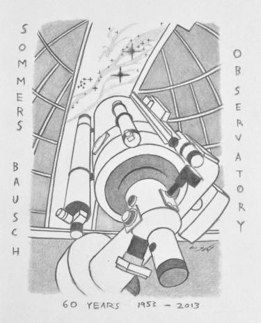 Illustration of the SBO 24-inch by Eric Maxwell Mc Neil Former Observatory Assistant.