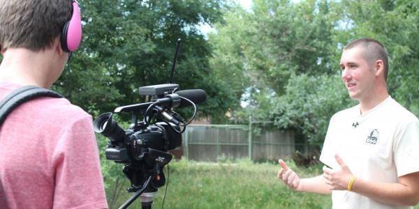 boy being filmed