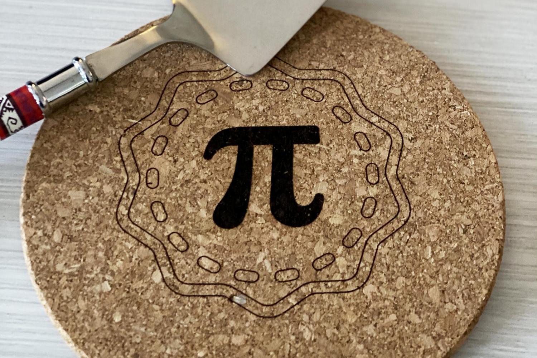 trivet with pi symbol