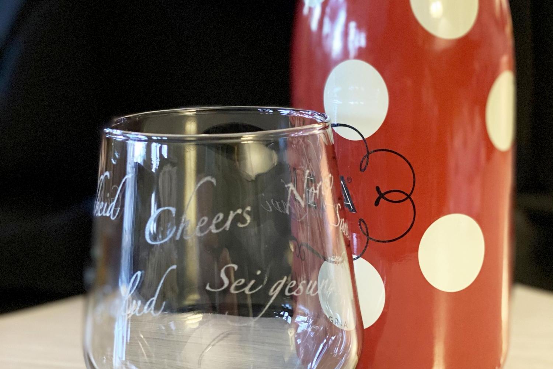 smokey glass on table 1