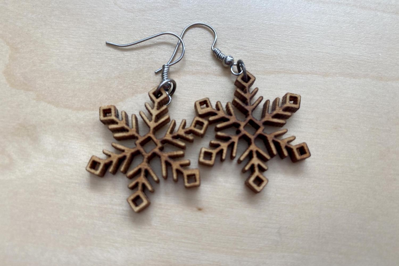 Laser Cut Earrings snowflakes
