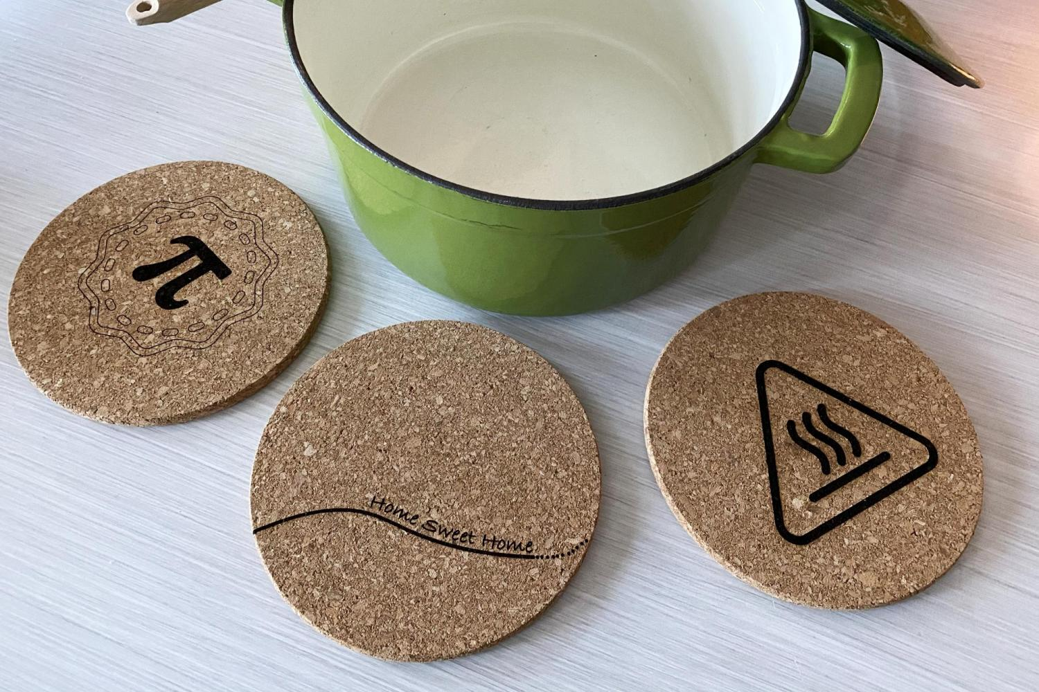 trivets on a table