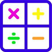 Colorful illustration of math symbols
