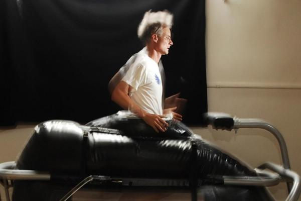 Athlete on a treadmill
