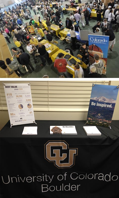 College fair table