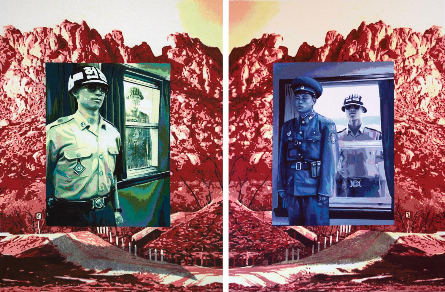 Art featuring Korean soldiers