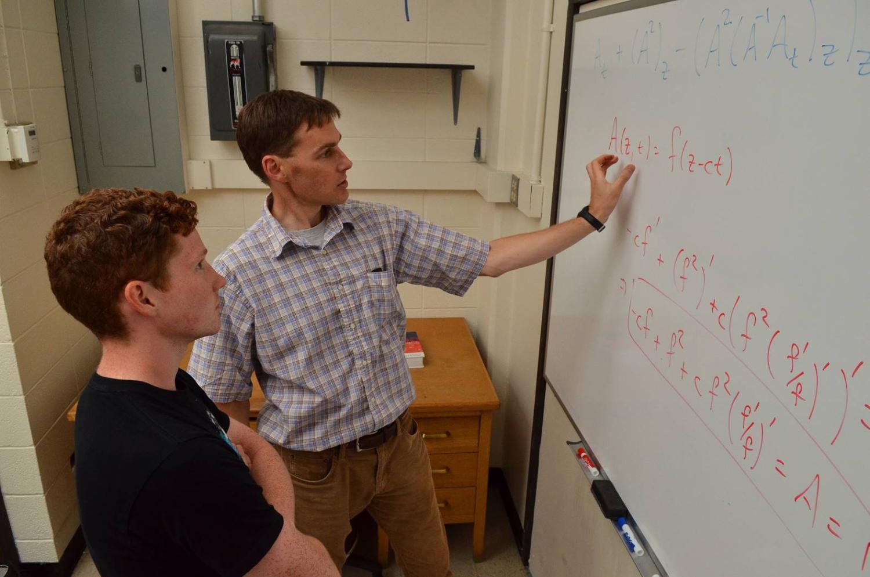 Applied math professor teaching a class