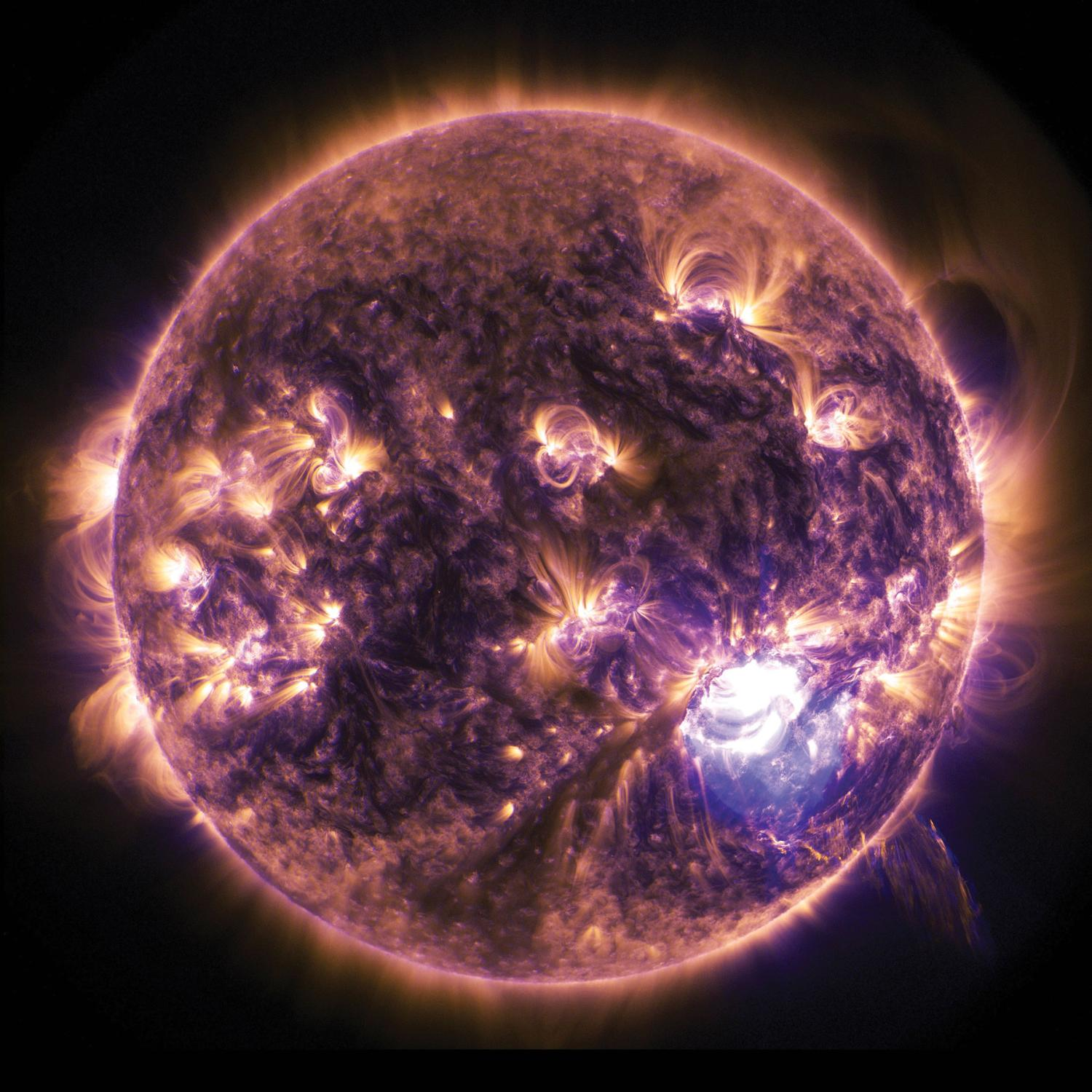 Solar images in space