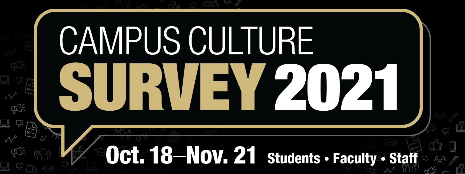 Campus Culture Survey. Oct 18 - Nov 21. Faculty, Staff and Students