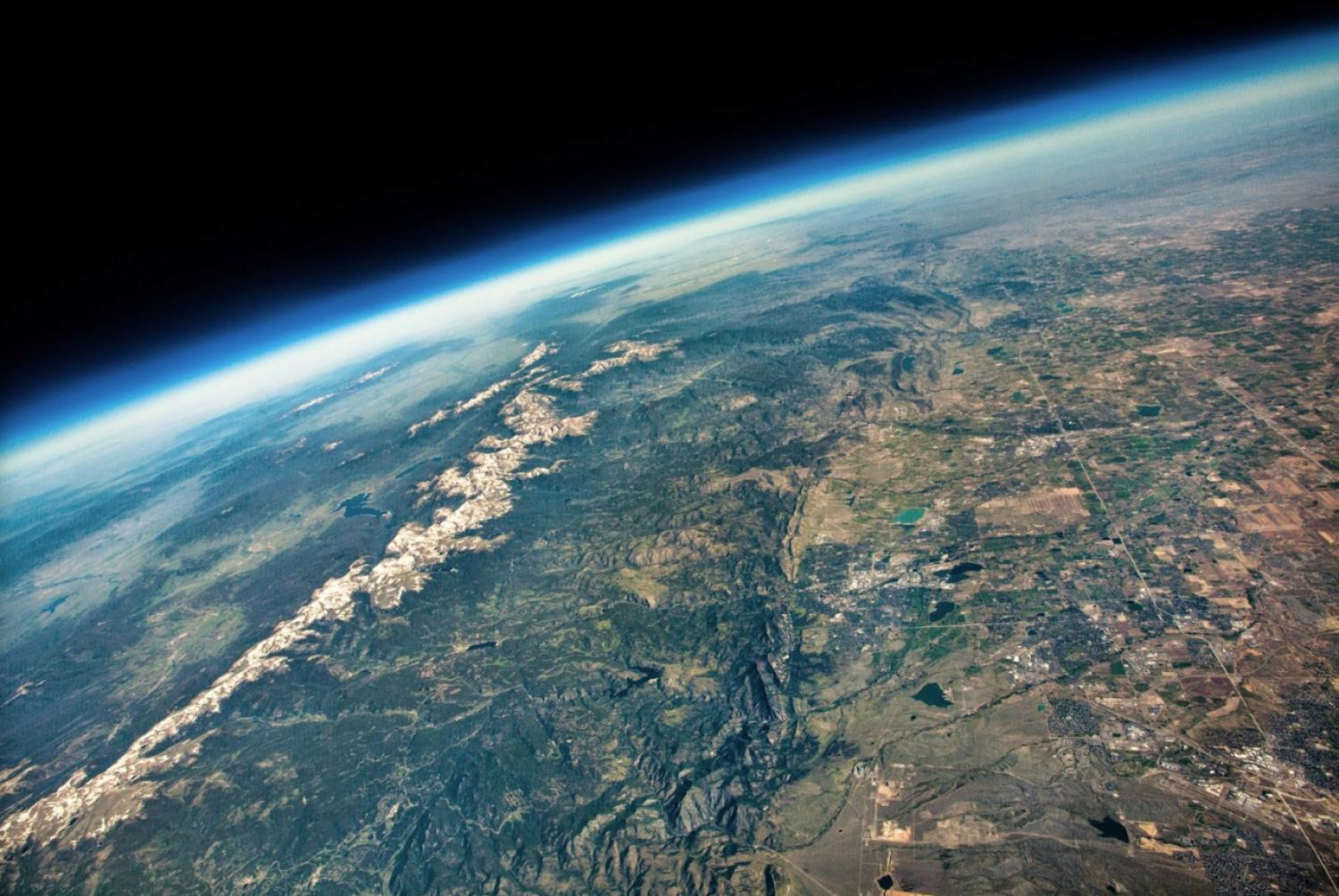 Boulder from space