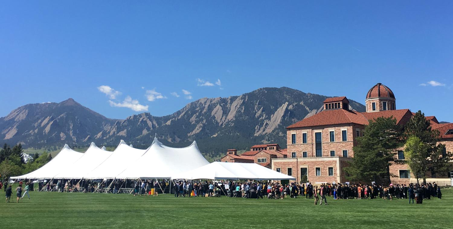 View of flatirons from campus