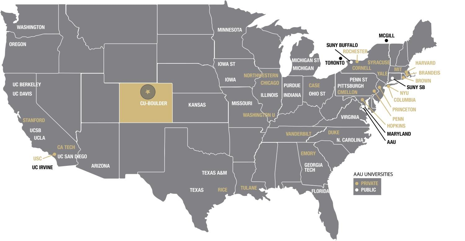 Letter University Of Colorado Boulder - Boulder colorado on a map of us