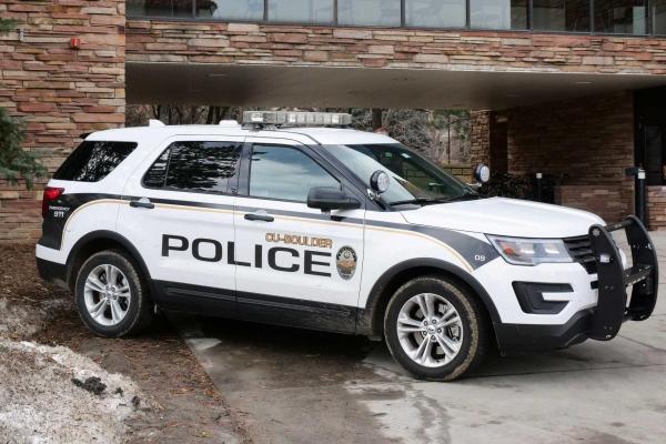 CU Boulder Police car on campus