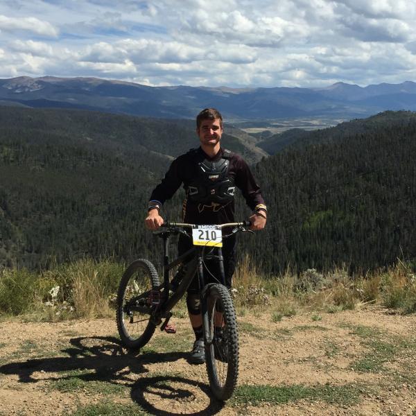 Matthias Malojer on bike in mountains