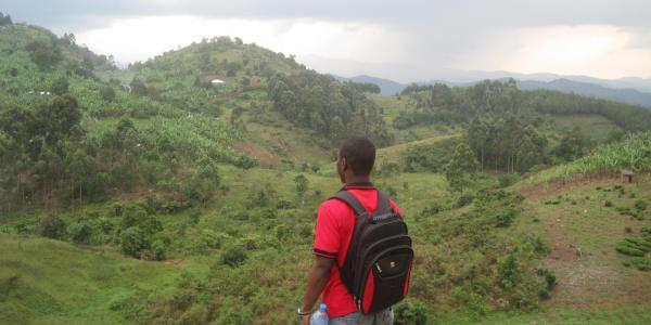 PhD candidate Adenife Modile looks at African landscape