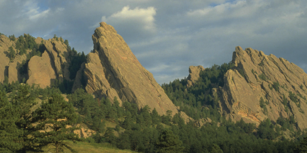 Flatirons in Boulder, CO.