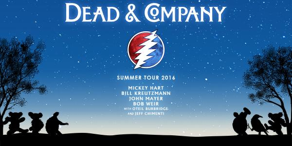 Dead & Company, Summer Tour 2016, Mickey Hart, Bill Kreutzmann, John Mayer, Bob Weir, with Oteil Burbridge and Jeff Chimenti