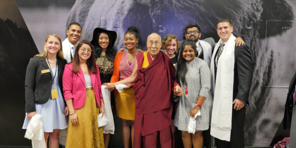 The Dalai Lama with CUSG and CEB students