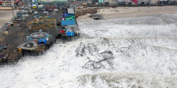 Aftermath of Hurricane Sandy on the New Jersey Pier