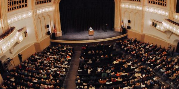 Inside view of the Macky Auditorium