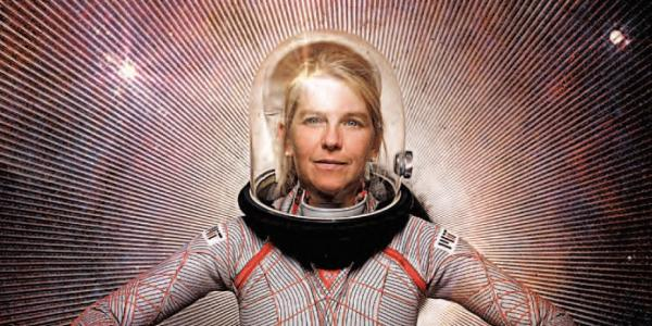 Dava Newman in a space suit