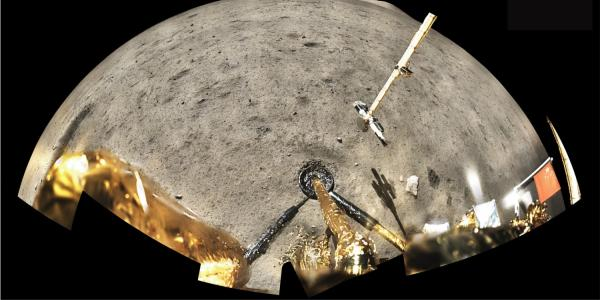 The Chang'e 5 landing site on the moon