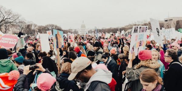 People protesting in Washington, D.C.