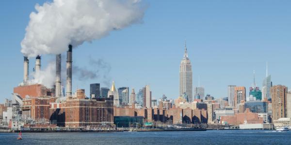 Smoke stacks in New York City