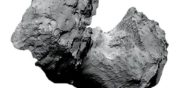Closeup of a comet