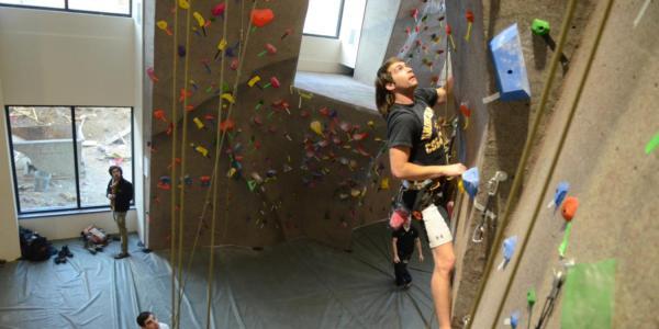 Recreation Center climbing wall