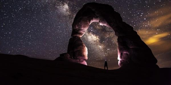 Arch and the night sky