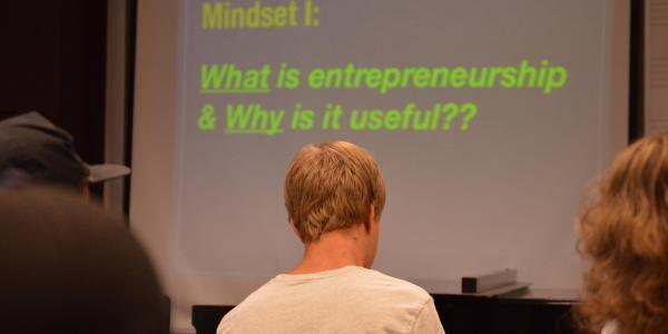 Students and music entrepreneurship presentation