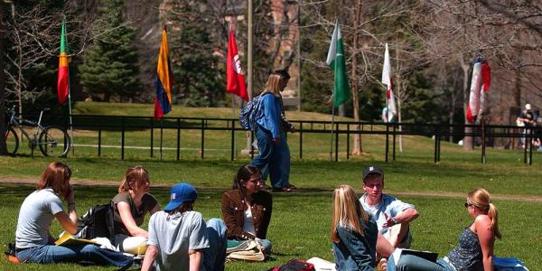 Students on norlin quad