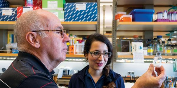Robert Garcea in the lab