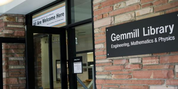 Gemmill Library entrance