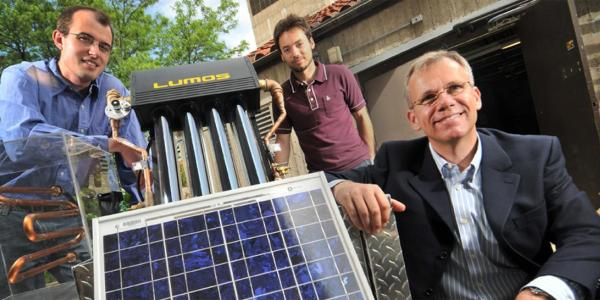 Dr. Gregor Henze's and team members with electric grid