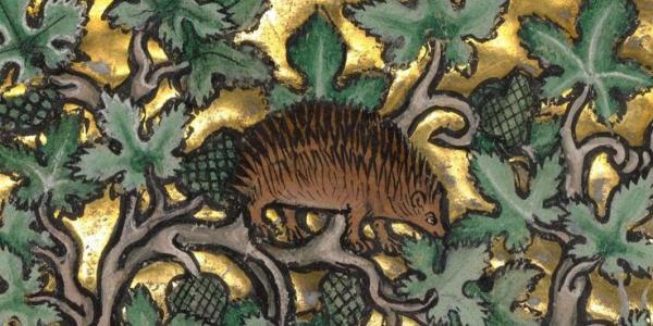 Medieval painting detail