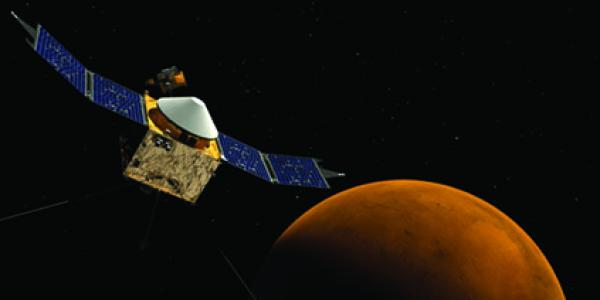 Maven in space over Mars