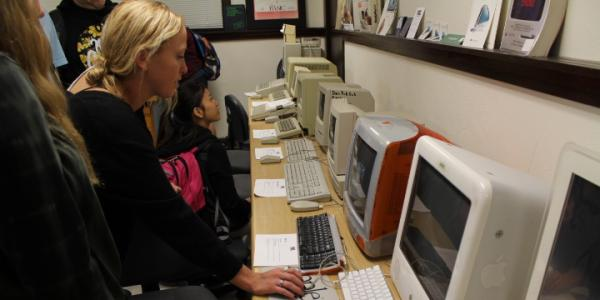 Students in Media Archaeology Lab