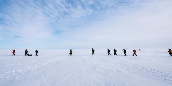 CU Boulder researchers walking across the arctic to study climate