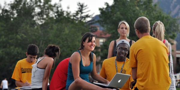 Students on Farrand Field
