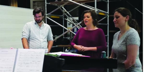 Opera students rehearsing