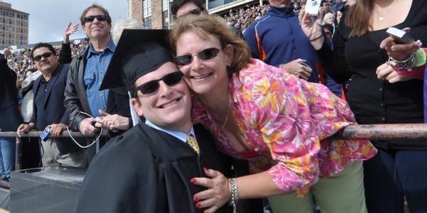 Parent at graduation