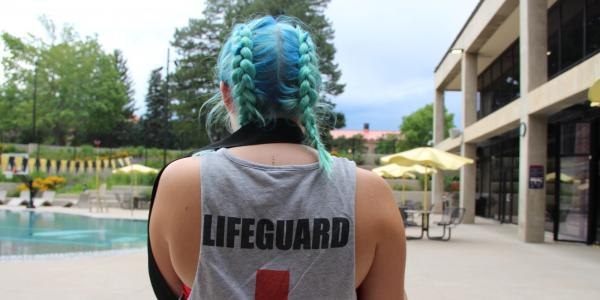 Lifeguard by the pool