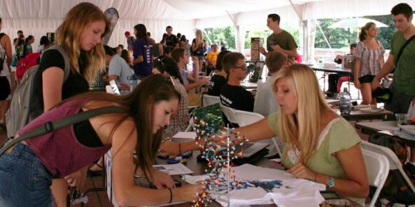 Students attending Involvement Fair